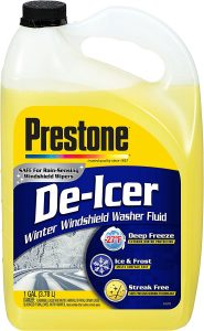 Prestone AS250 is the best De-Icer windshield washer fluid